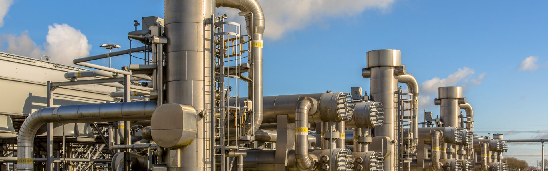 Refinery units on Dutch Natural gas field processing site